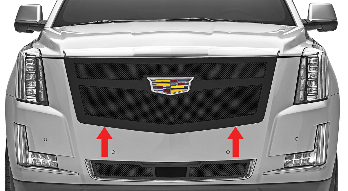 Grille Replacement, Mesh, Early 2015 Escalade/EXT/ESV, w/o Adaptive Cruise Cntrl