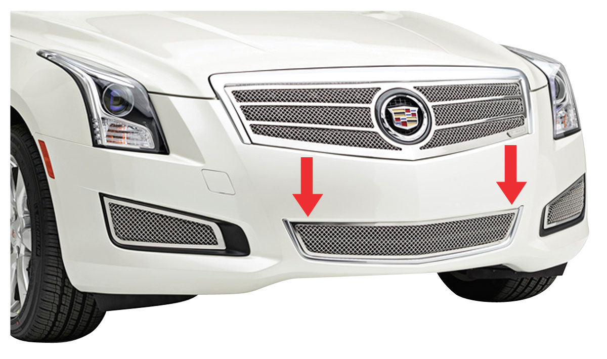 Grille Overlay, Mesh Bumper Center, 2013-2014 ATS exc. Platinum, Polished SS