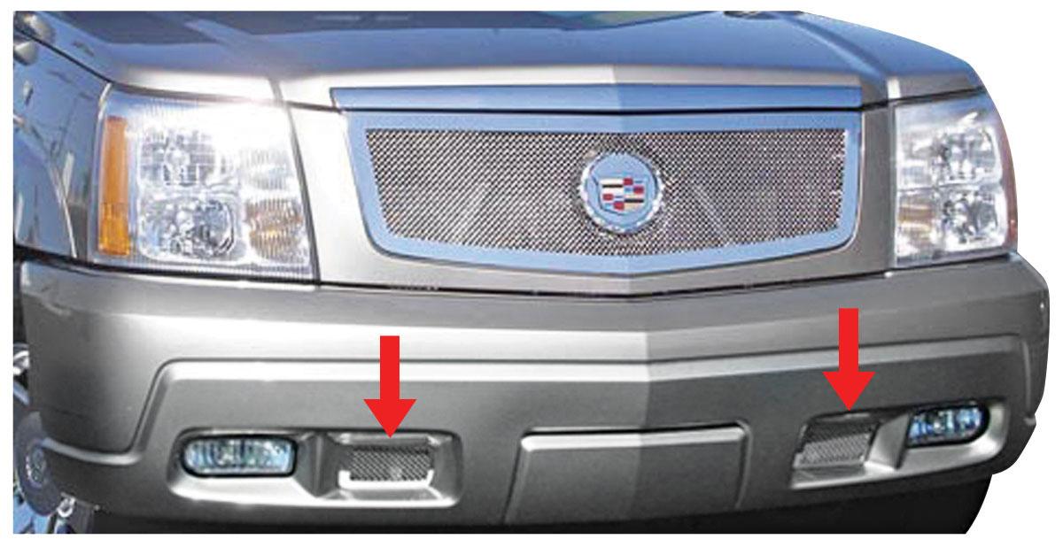 Grille Overlay, Bumper Mesh, 2002-06 Escalade/EXT/ESV, exc Hybrid/Platinum, SS