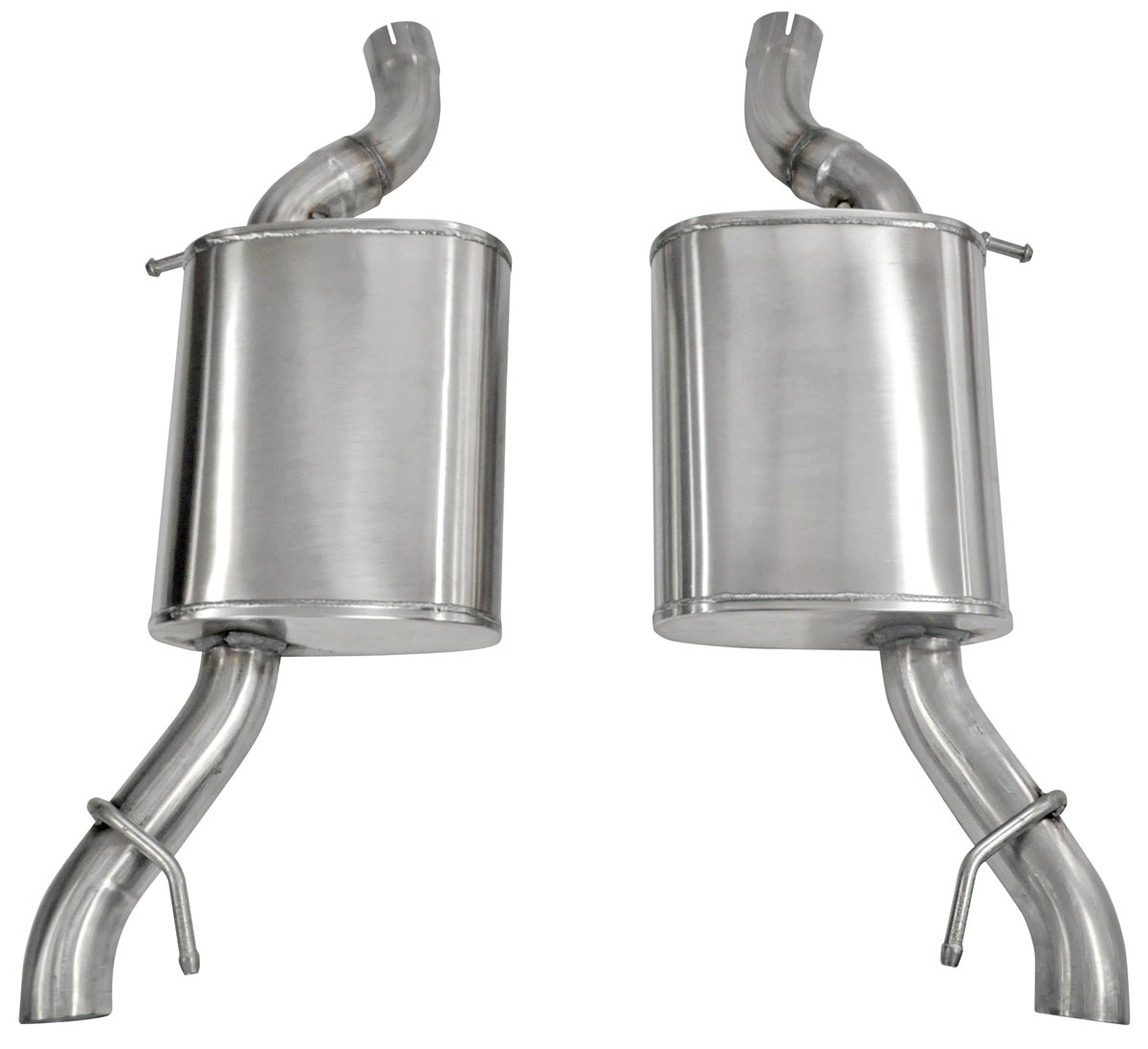 """Exhaust System, Corsa, Sport, Axle-Back, 2.5"""" Dual Rear Exit, No Tips"""