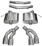 """Exhaust System, Corsa, Sport, Axle-Back, 2.75"""" Dual Rear Exit, Twin 4"""" Tips"""