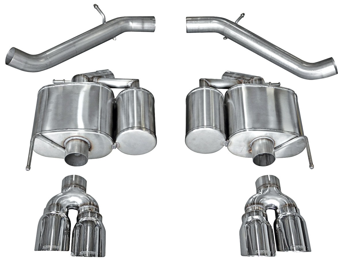 """Exhaust System, Corsa, Sport, Axle-Back, 3"""" Dual Rear Exit, Twin 4"""" Tips"""