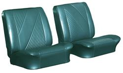 Seat Upholstery Kit, 1965 Beaumont, Front Buckets/Coupe Rear LEG