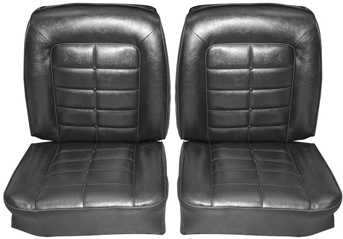 Seat Upholstery, 1964 Riviera, Rear Buckets