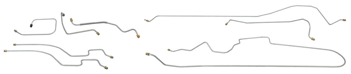 Brake Line Set, Manual, 1961-62 Bonneville Exc. Station Wagon