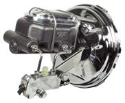 Brake Booster, Chrome, 1964-66 A-Body, w/ Hammertone Finish Master Cylinder