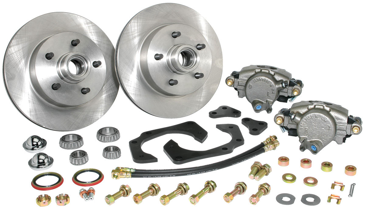 Disc Brake Conversion, 1961-68 Cadillac, Standard, Kit, Front