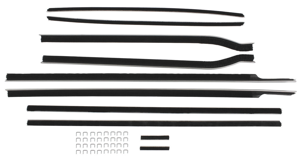 Window Felts, 1961 Cadillac, 2dr. Hardtop, 8 pieces, OEM Style