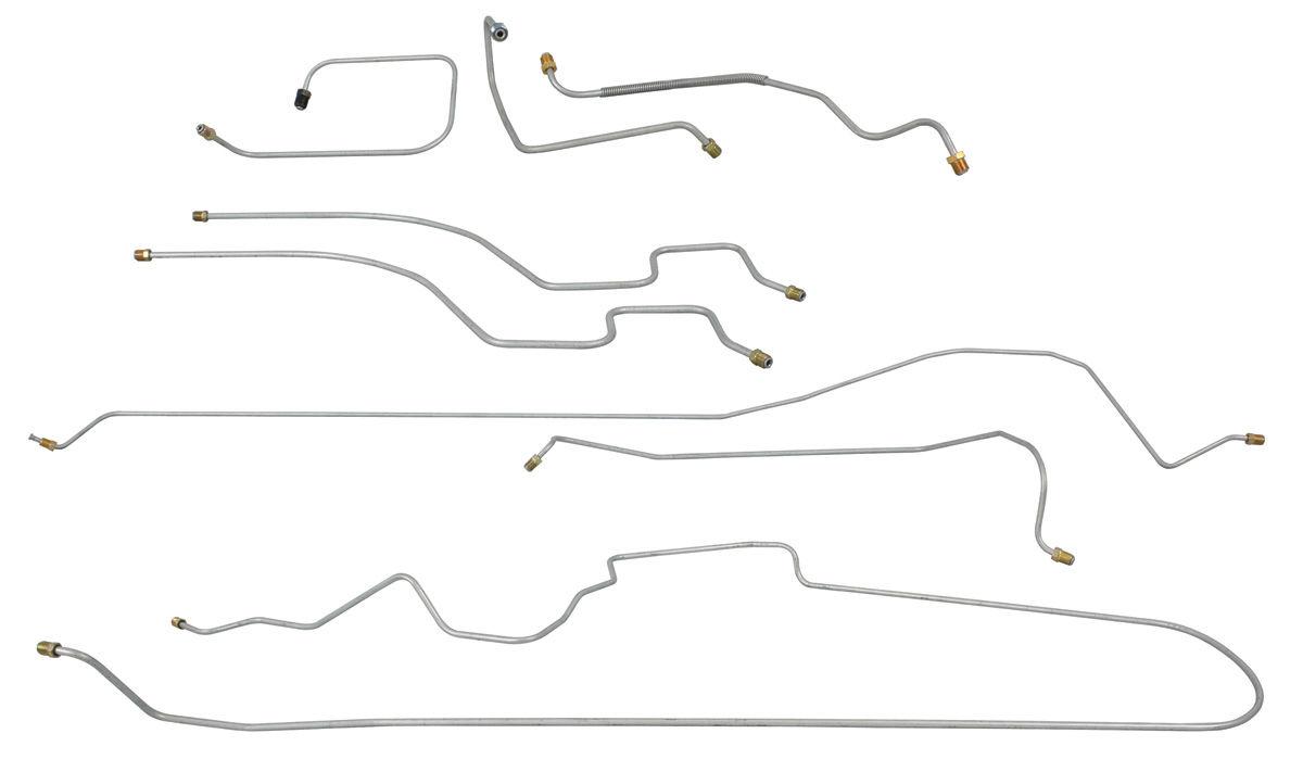 Brake Line Set, Complete, 1960-61 Cadillac DeVille/Eldorado, Manual