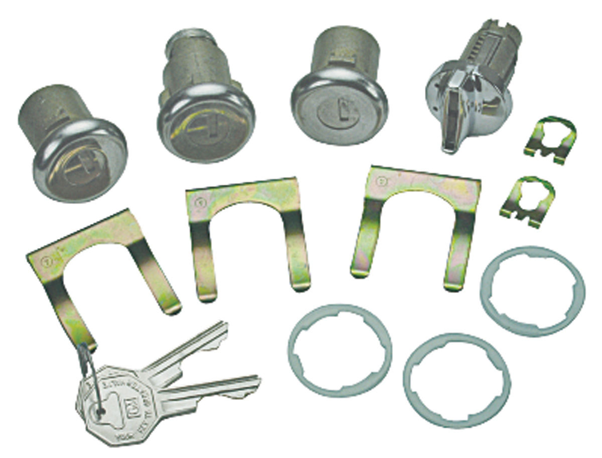 Lock Set, Ignition/Doors/Trunk, 1966-67 Chevelle/GTO, w/ Original Keys