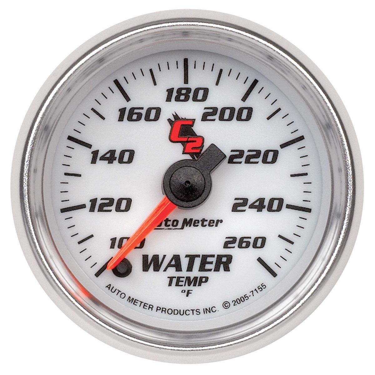 Gauge, Water Temperature, Auto Meter, C2, 2-1/16