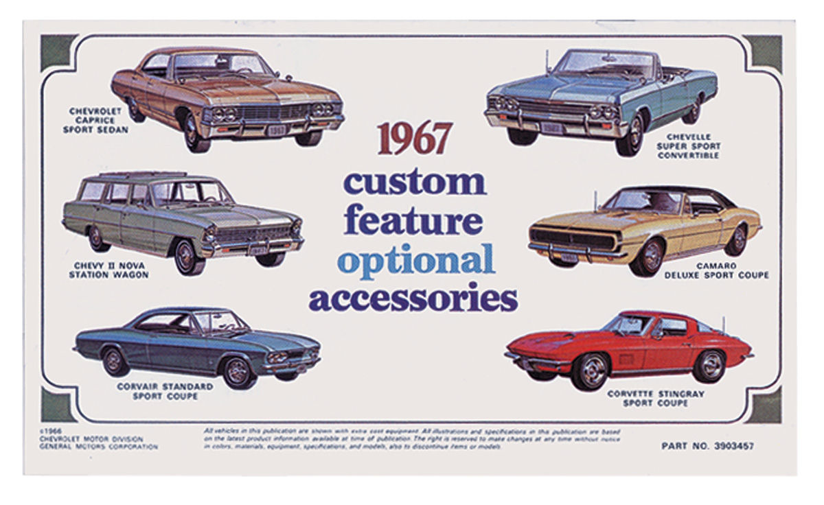 Custom Feature Brochure, 1970 Chevrolet