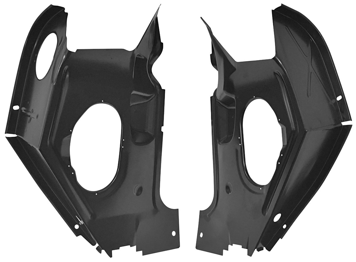 Cowl, Side Hinge Panel, 1966-67 GM A-Body, W/ AC, Pair