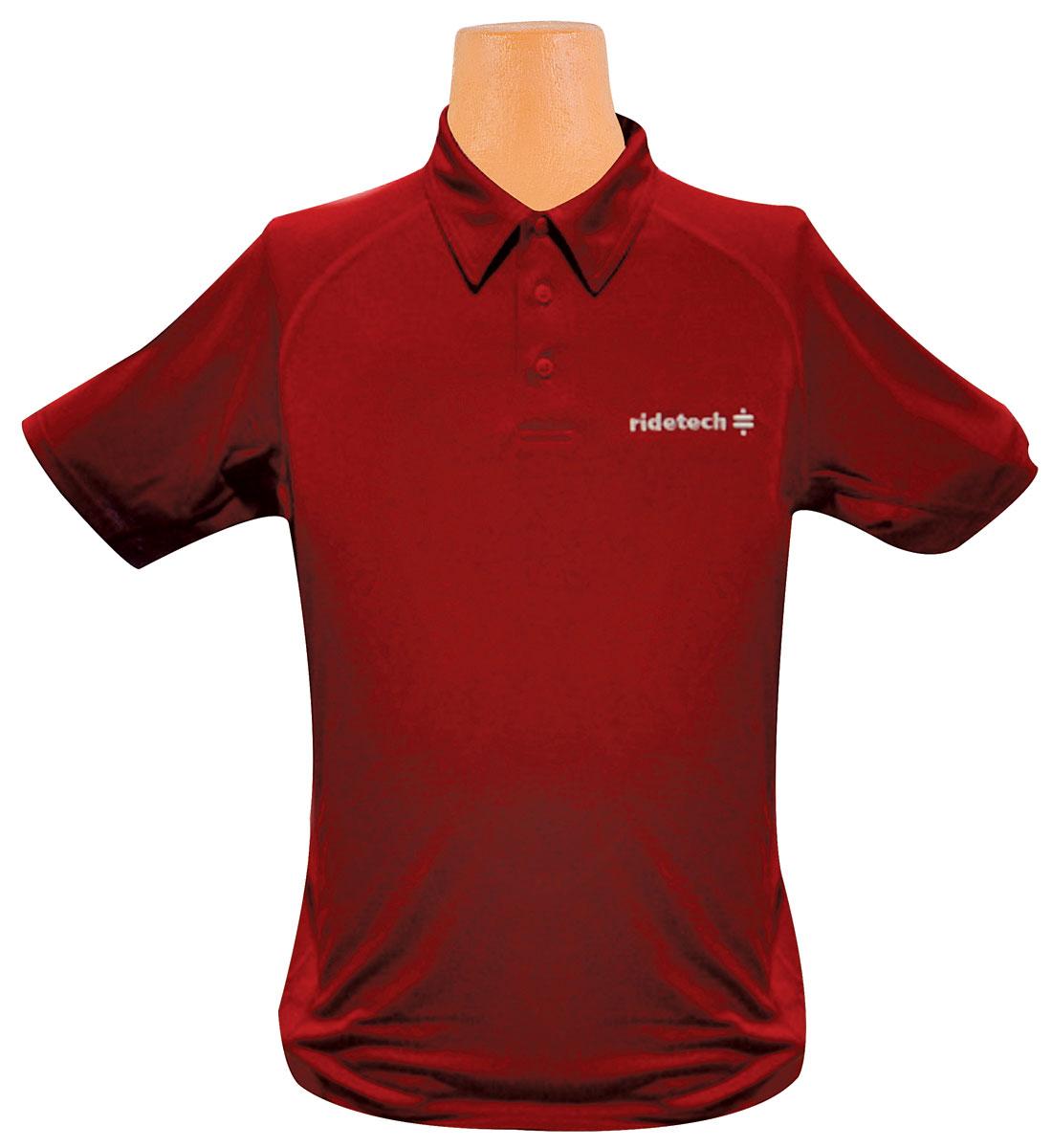 Shirt, Ride Tech Logo, Red Polo