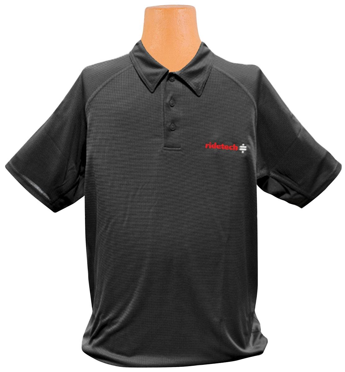 Shirt, Ride Tech Logo, Black Polo