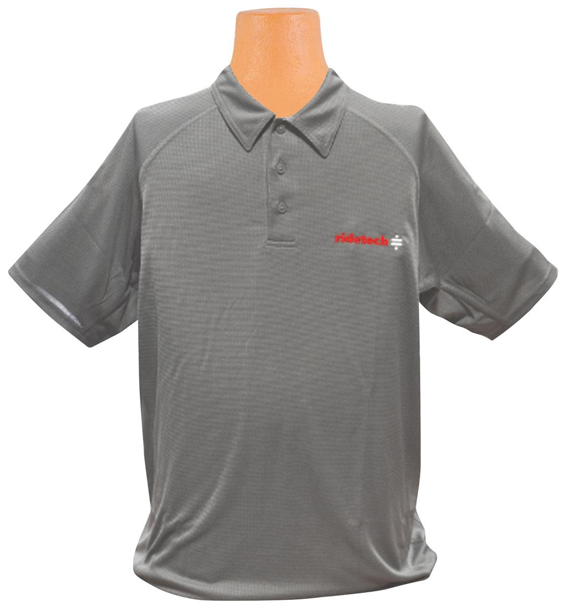 Shirt, Ride Tech Logo, Gray Polo