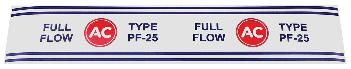 Decal, Oil Filter, 1964-79 GM Vehicles, PF25