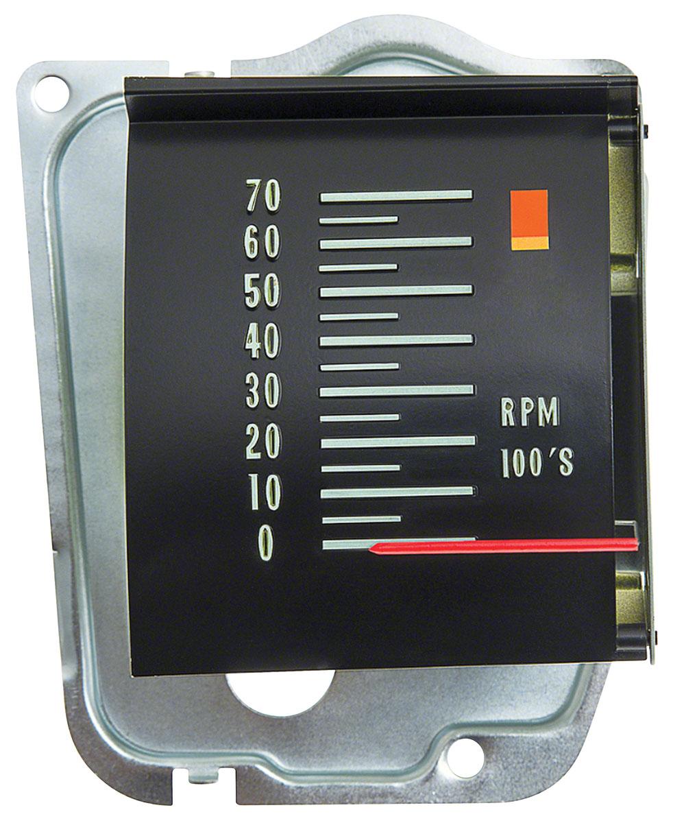 Tachometer, In Dash,1968 Chevelle/El Camino, 6000 Redline, Roller Style