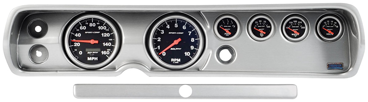 Gauge Conversion, Classic Dash, 65 Chevelle/El Camino, Concourse Silver