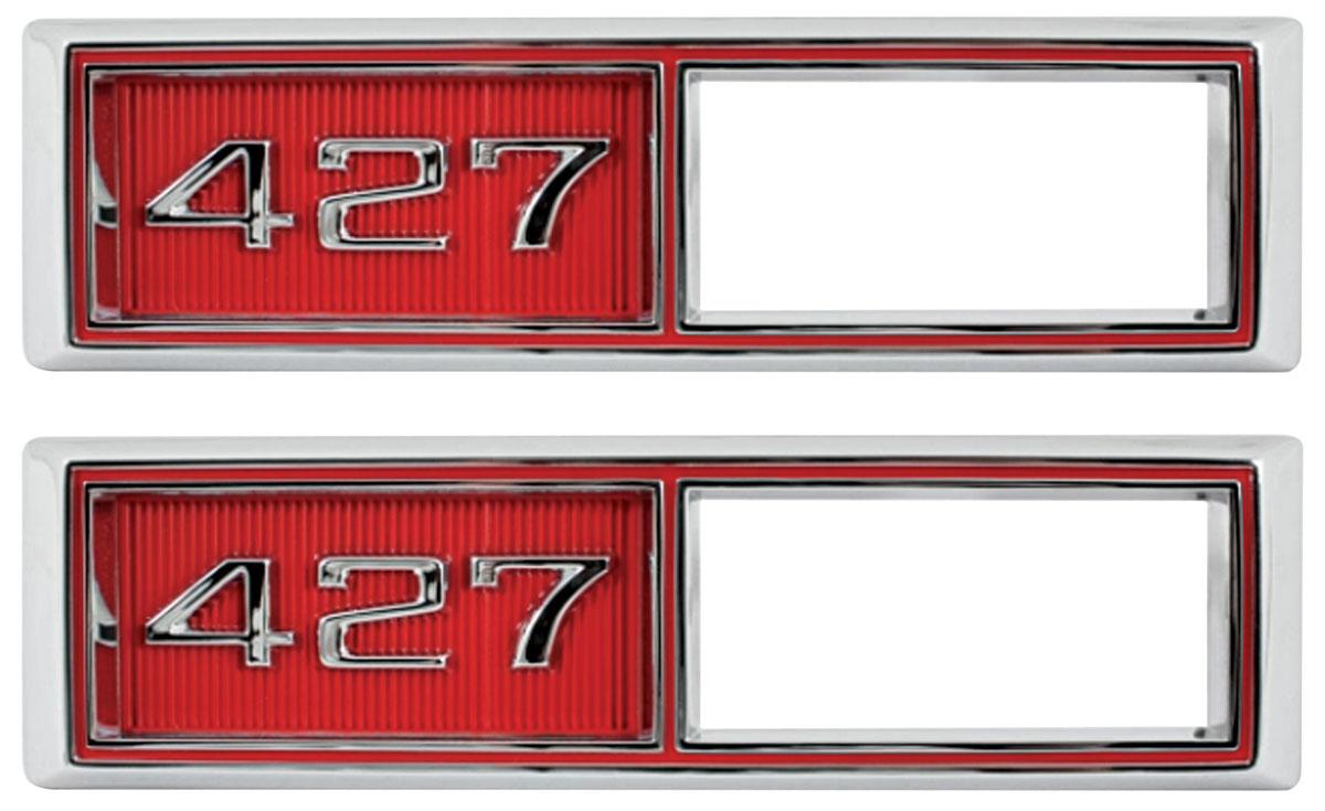Bezel, Front Marker, 427, 1968 Chevelle/El Camino, Custom Red