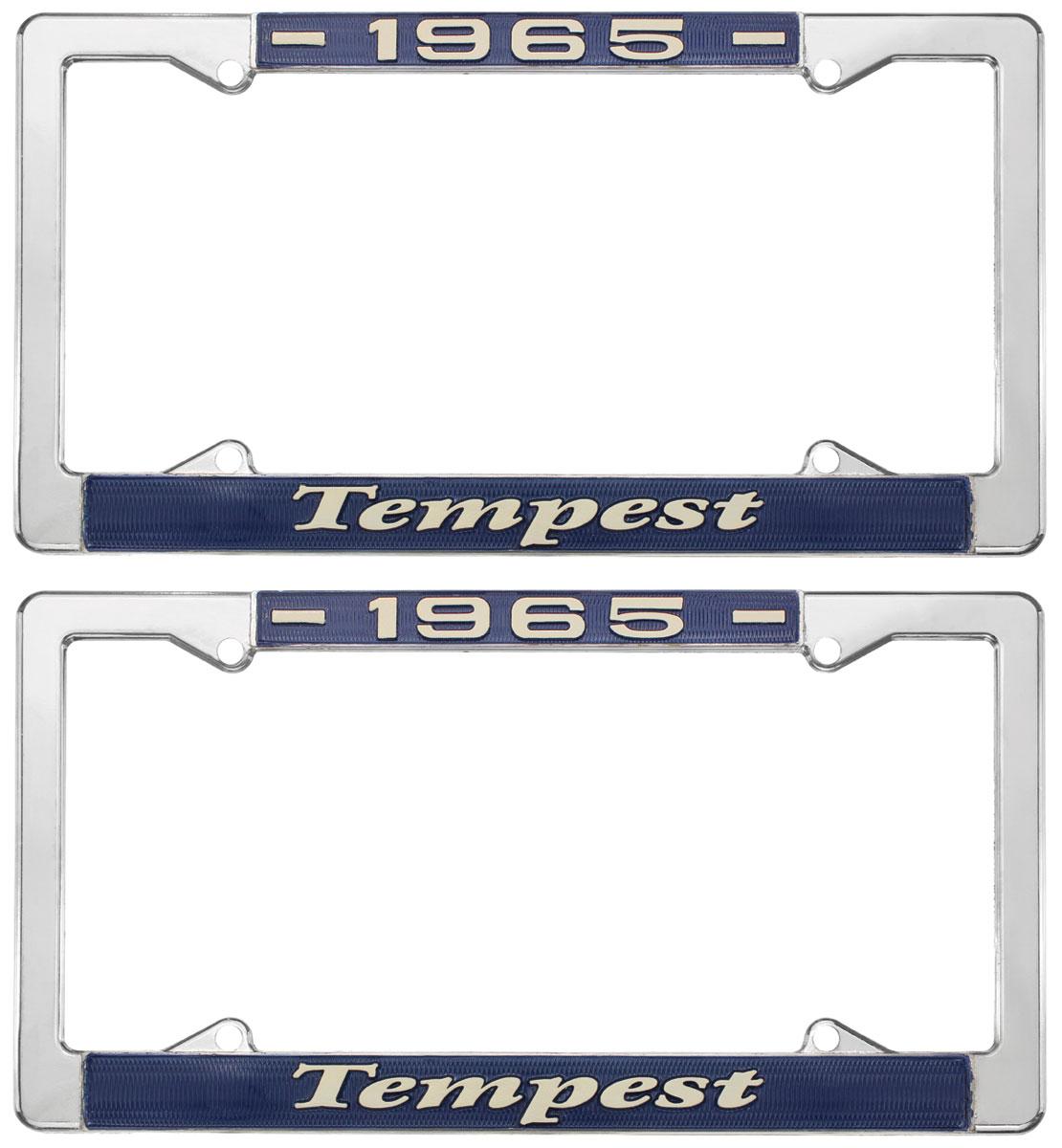 License Plate Frame, 1965 Tempest