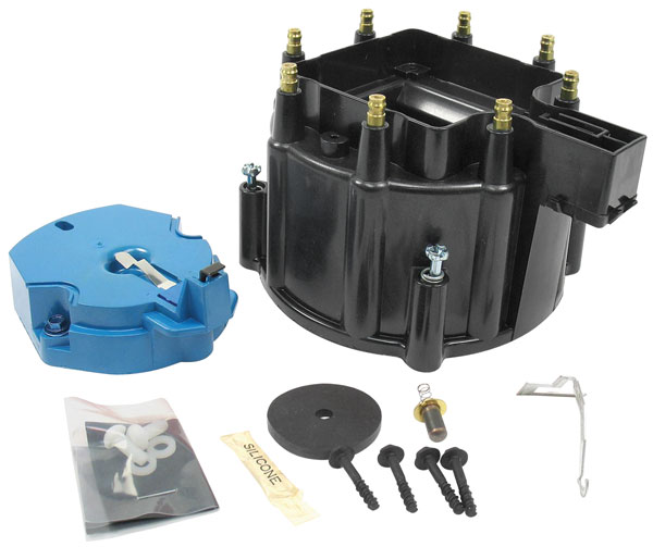 Cap/Rotor, HEI Distributor, 1964-87 GM, Black