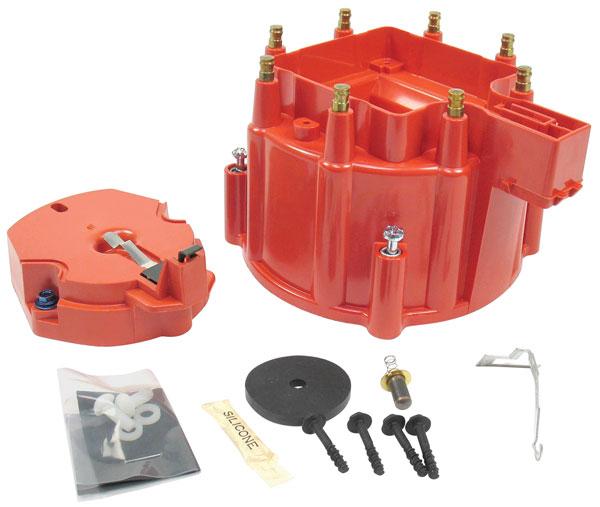 Cap/Rotor, HEI Distributor, 1964-87 GM, Red