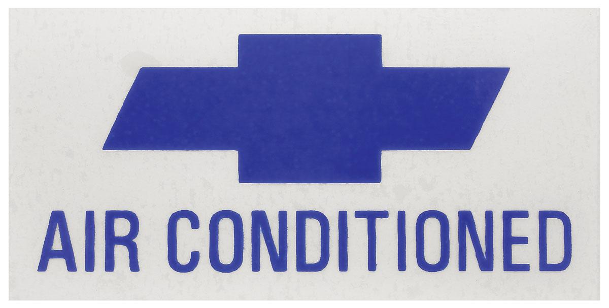 Decal, AC Compressor, 1967 Corvair, Frigidaire, Orange