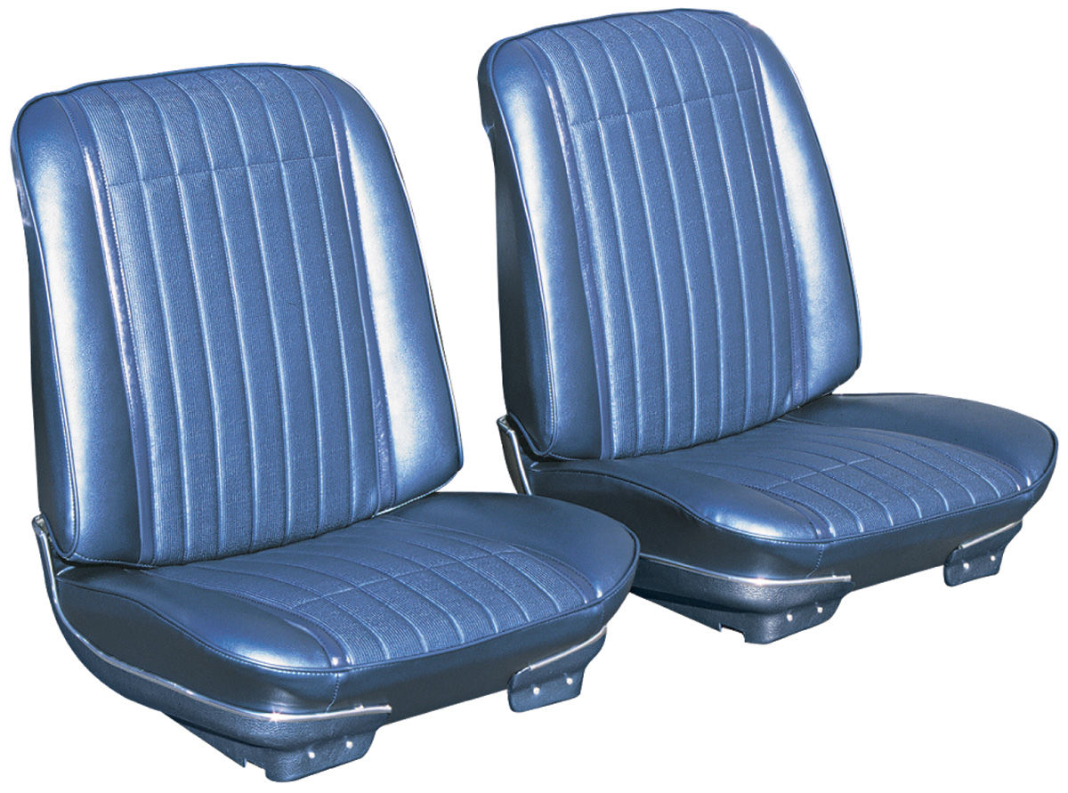 Bucket Seats, 1969 GTO/Lemans, Assembled w/ Headrest