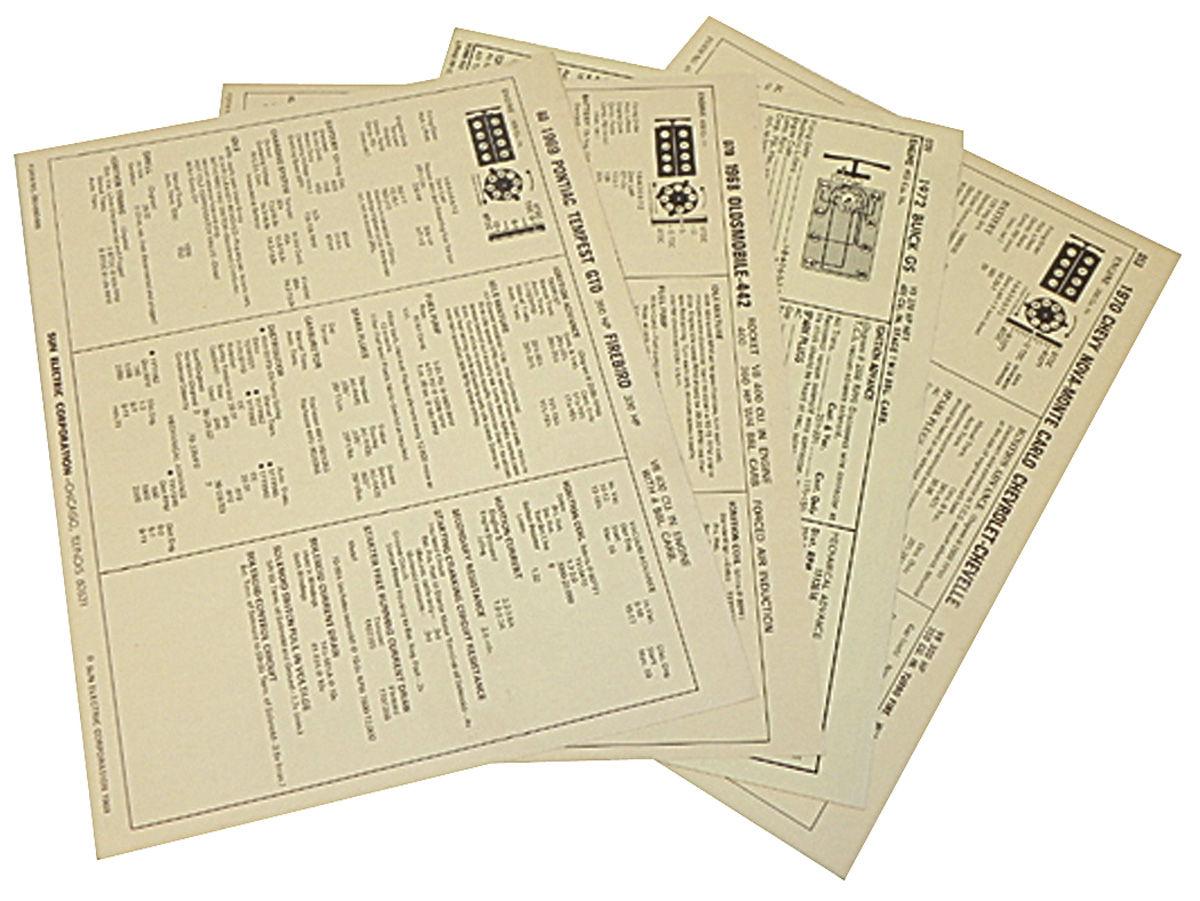 Tune-Up Sheets; 1972 Pontiac, V8 455, 4bbl/220-250hp