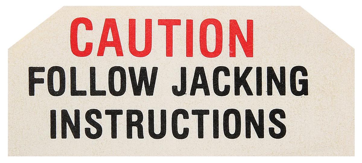 Decal, 59-61 Pontiac, Jack Base