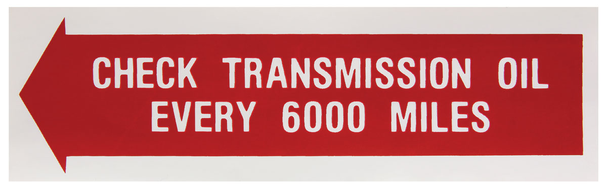 Decal, 61-62 Tempest, Check Trans