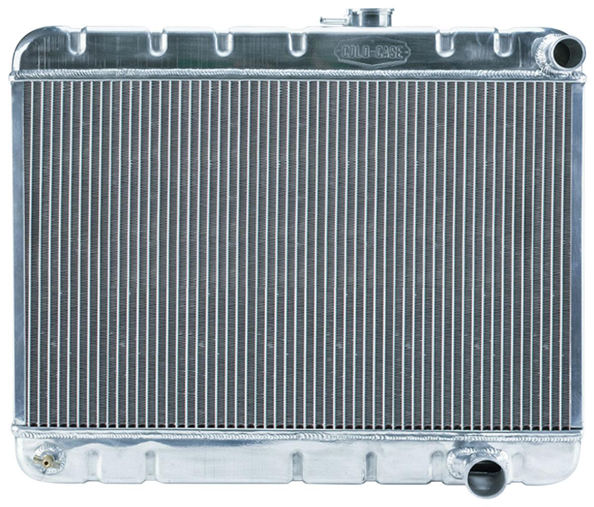 Radiator, Aluminum, Cold-Case, 1965 GTO Tri-Power, Non-A/C, MT