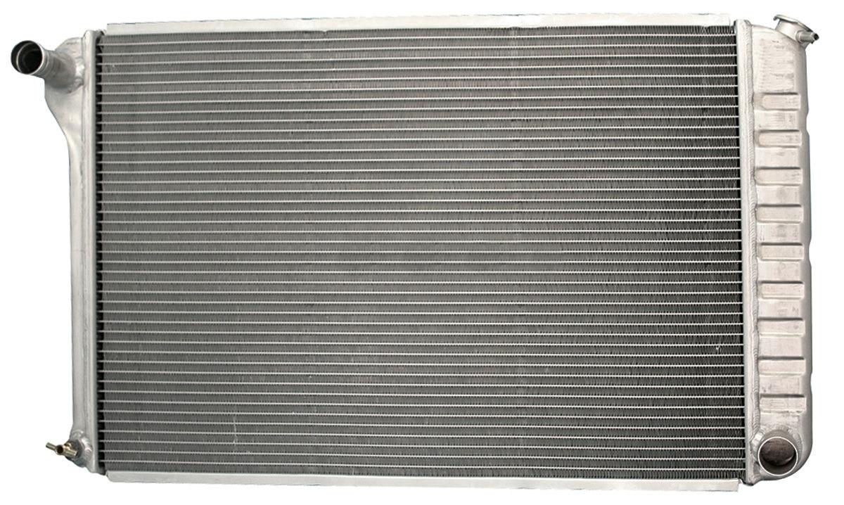 Radiator, 1965-67 G/B/C, Aluminum, V8, MT, Satin