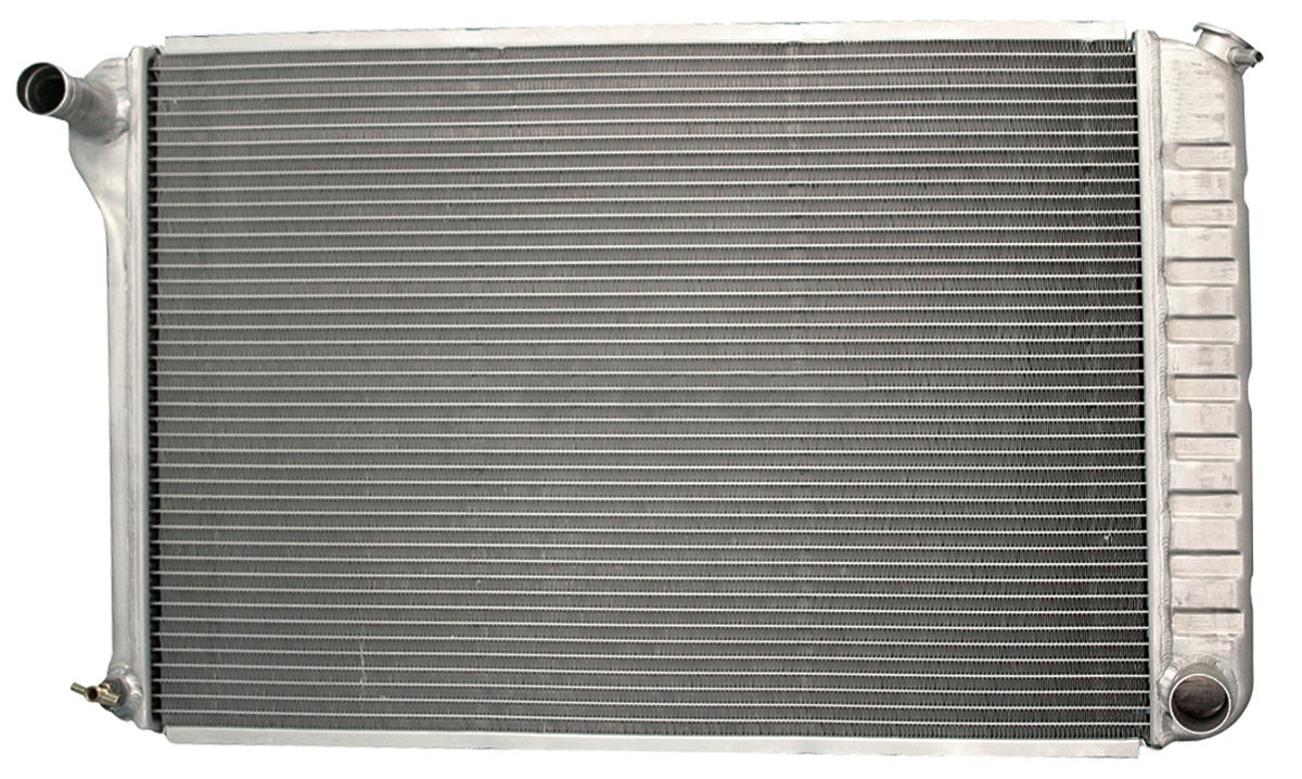 Radiator, 1972-76 G/B/C, Aluminum, V8, AT, Satin
