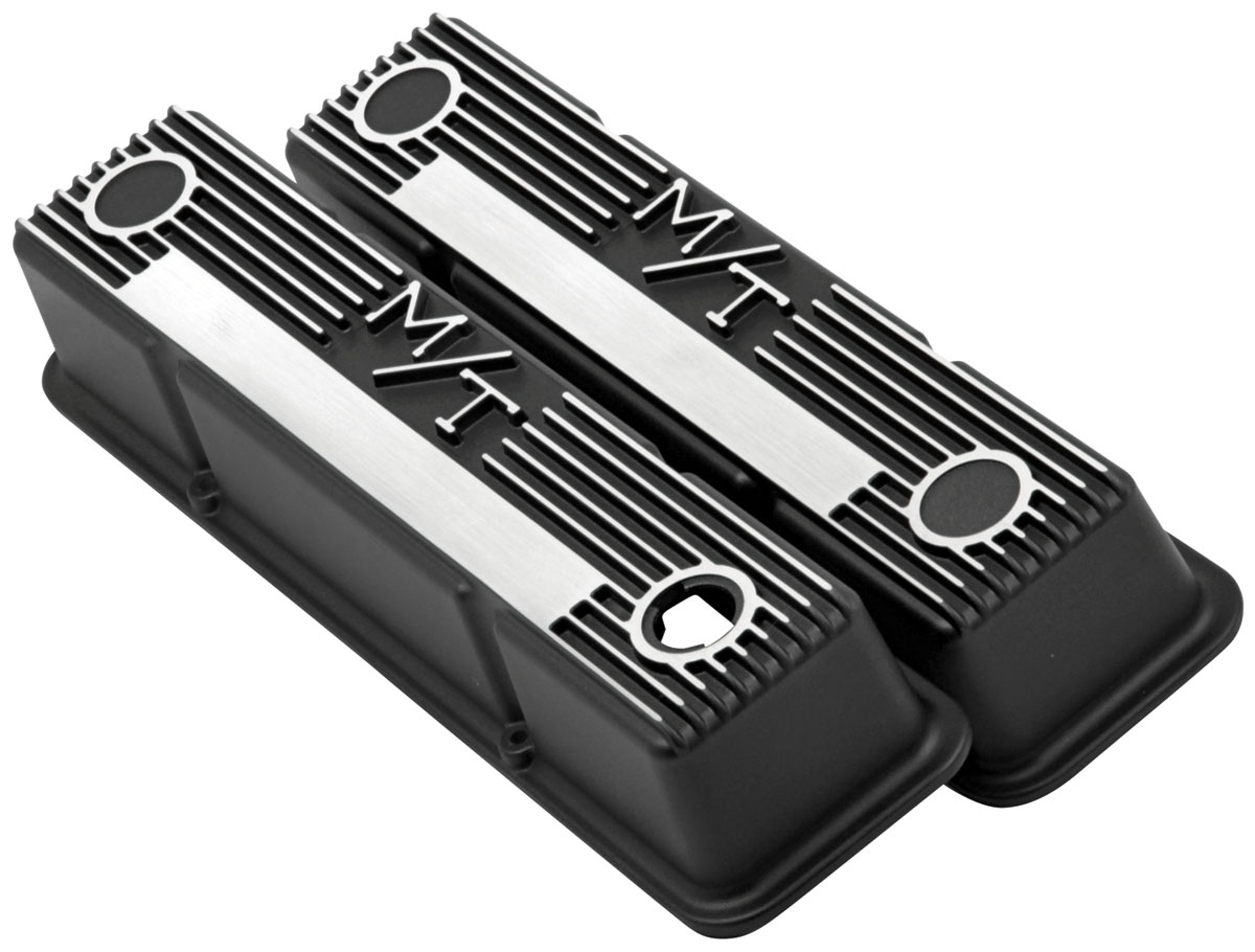 Valve Covers, M/T, Holley, Chevy Small Block, Finned
