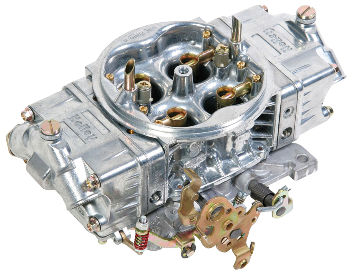 Carburetor, Holley, Street HP, 650 CFM, Shiny Finish, Mechanical Secondary