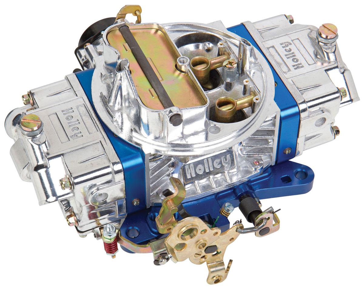 Carburetor, Holley, 650 CFM Ultra Double Pumper, Blue Metering Blocks