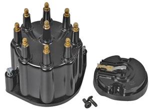 Cap/Rotor, Billet, HEI Distributor, Pertronix, Black, Male