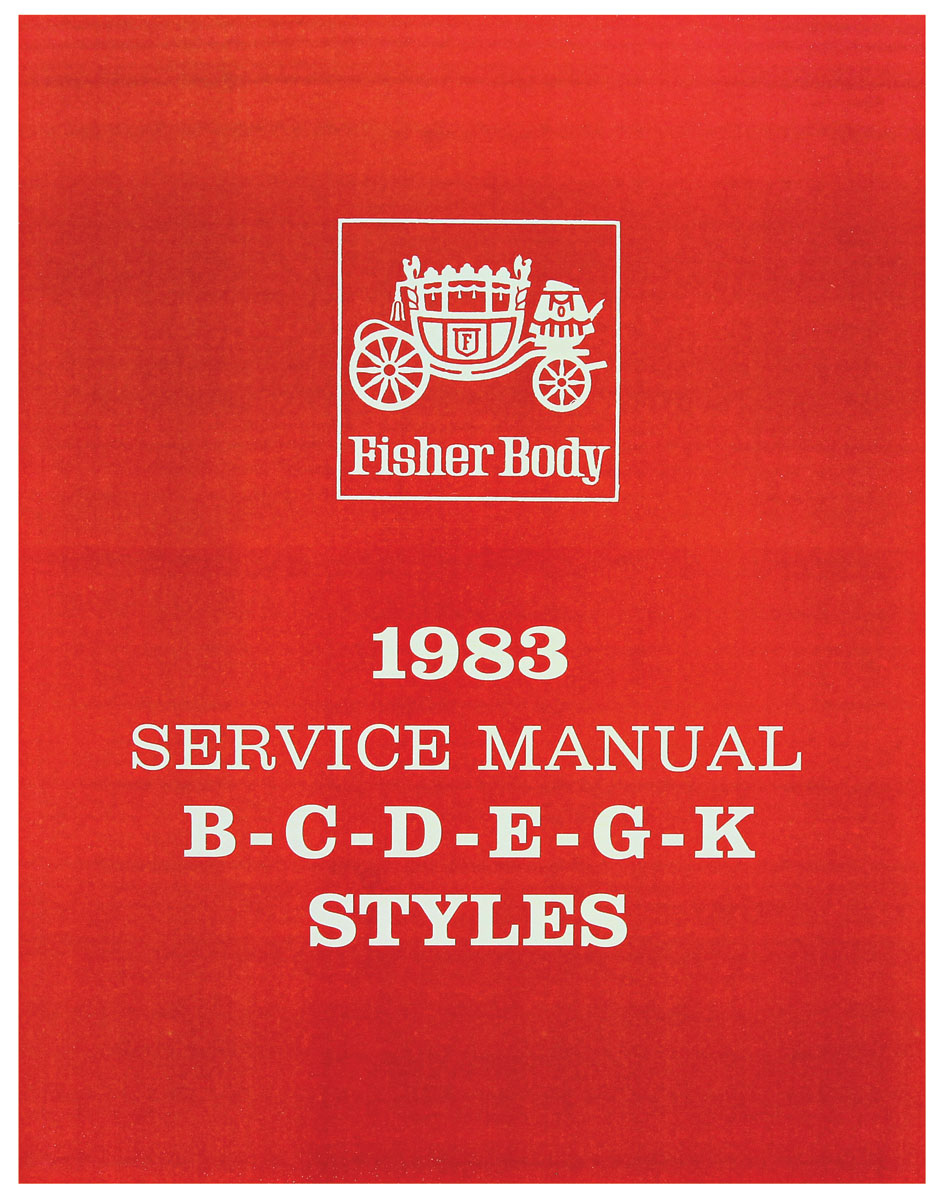 Fisher Body Manual, 1983 GM Cars, Part B