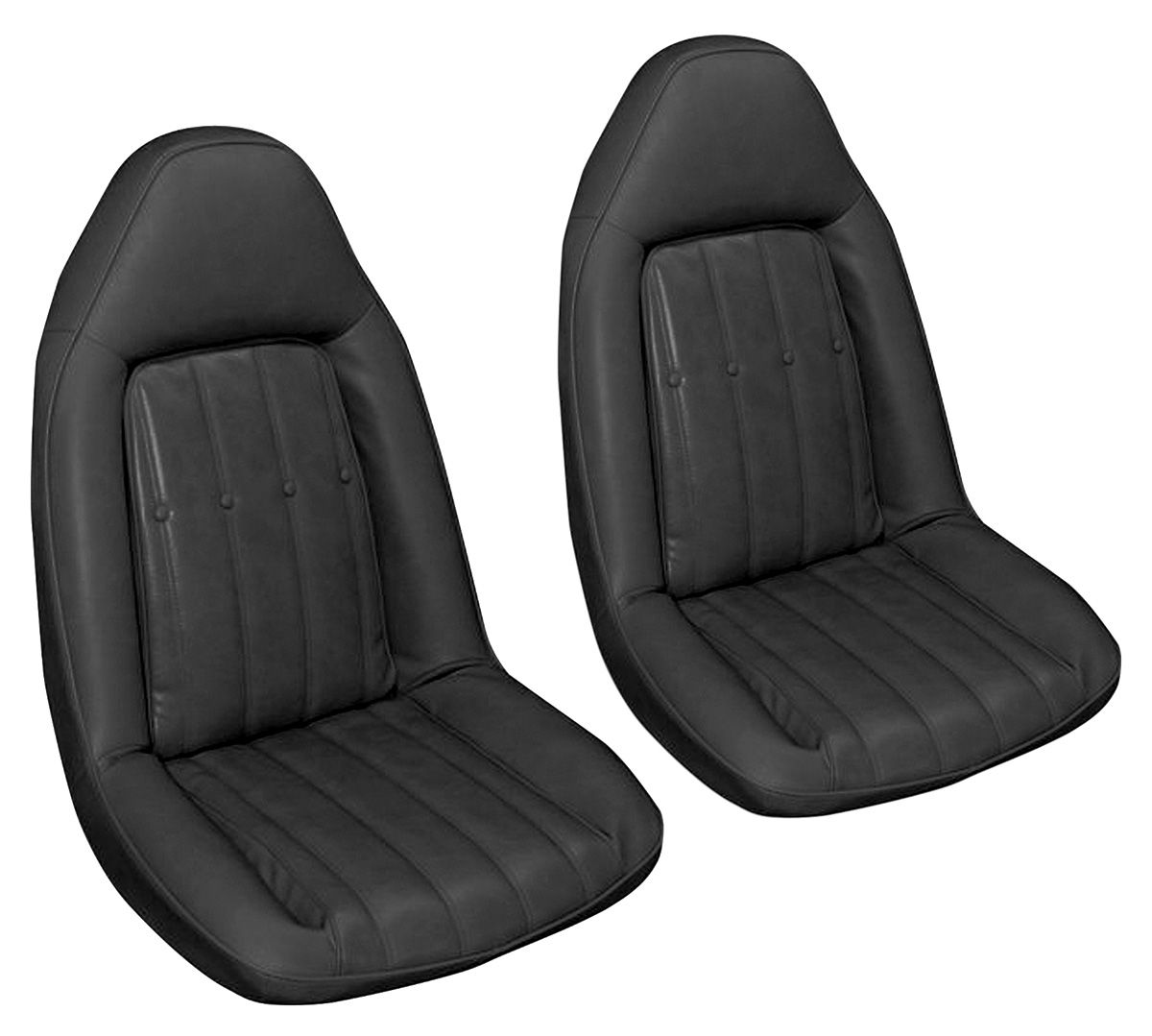 Seat Upholstery, 1975-76 Monte Carlo, Coupe Rear