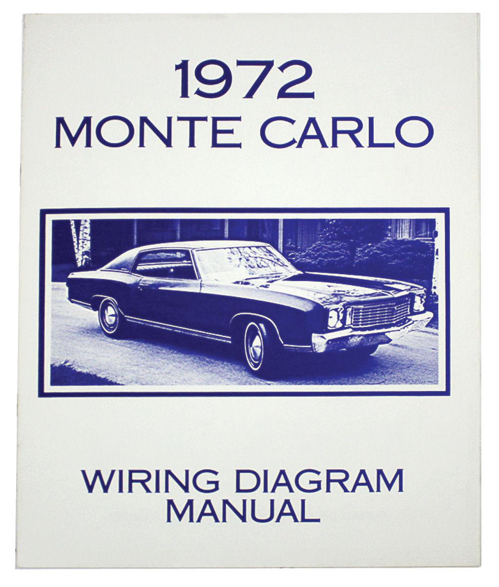 Wiring Diagram Manual  1971 Monte Carlo