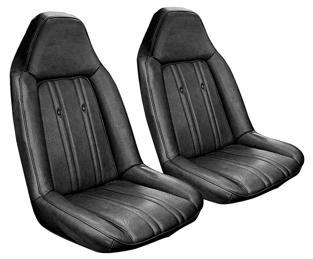Seat Upholstery, 1973-74 Monte Carlo, Front Buckets, Cloth