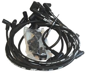Wires, Spark Plug, MSD, Street Fire, SB Chevy, W/ HEI Cap