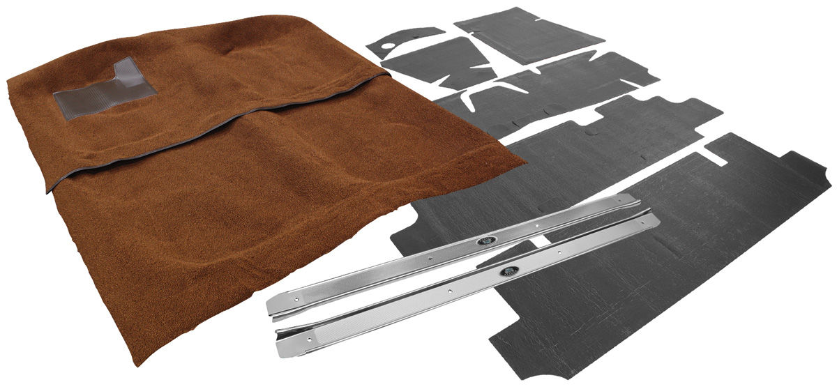 Carpet Kit, Essex 1961-64 Bonneville, 2dr, Auto, w/Deadener/Sill Plates