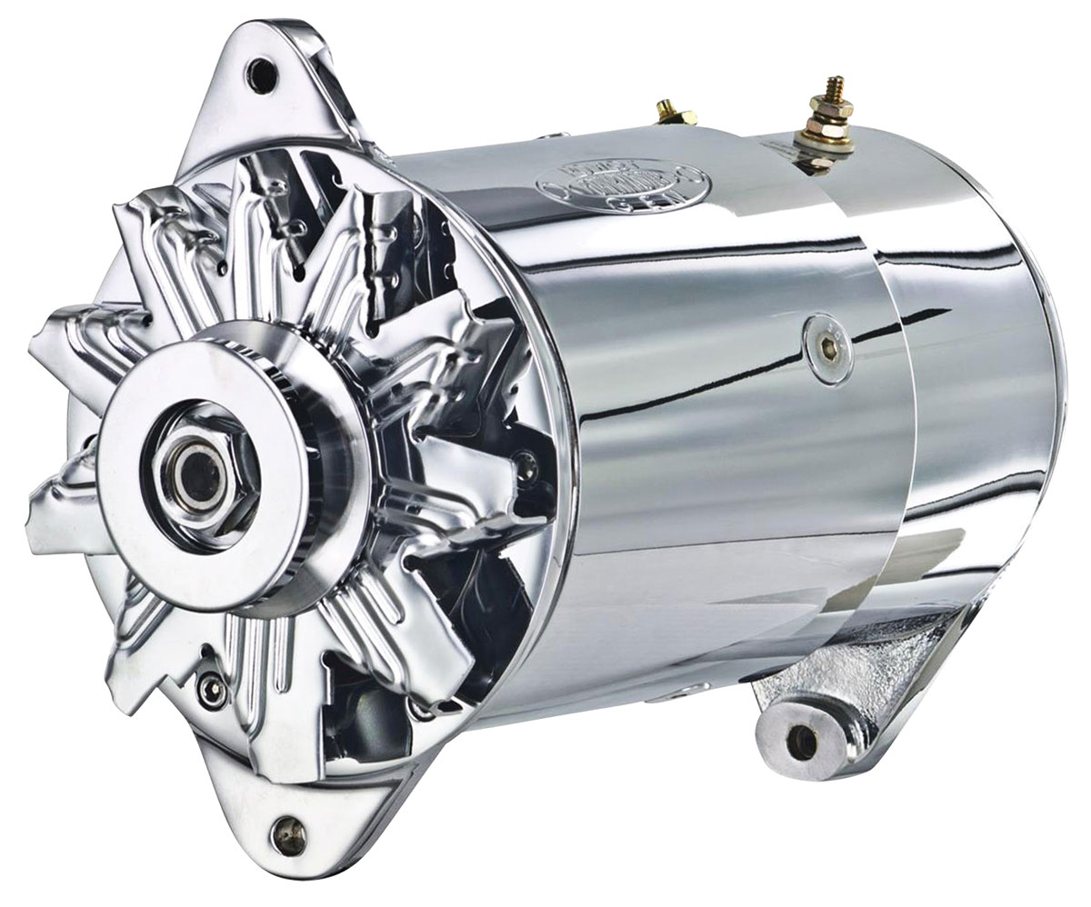 Alternator, PowerGen, 1954-62 GM Car, Chrome, Long Housing, Standard