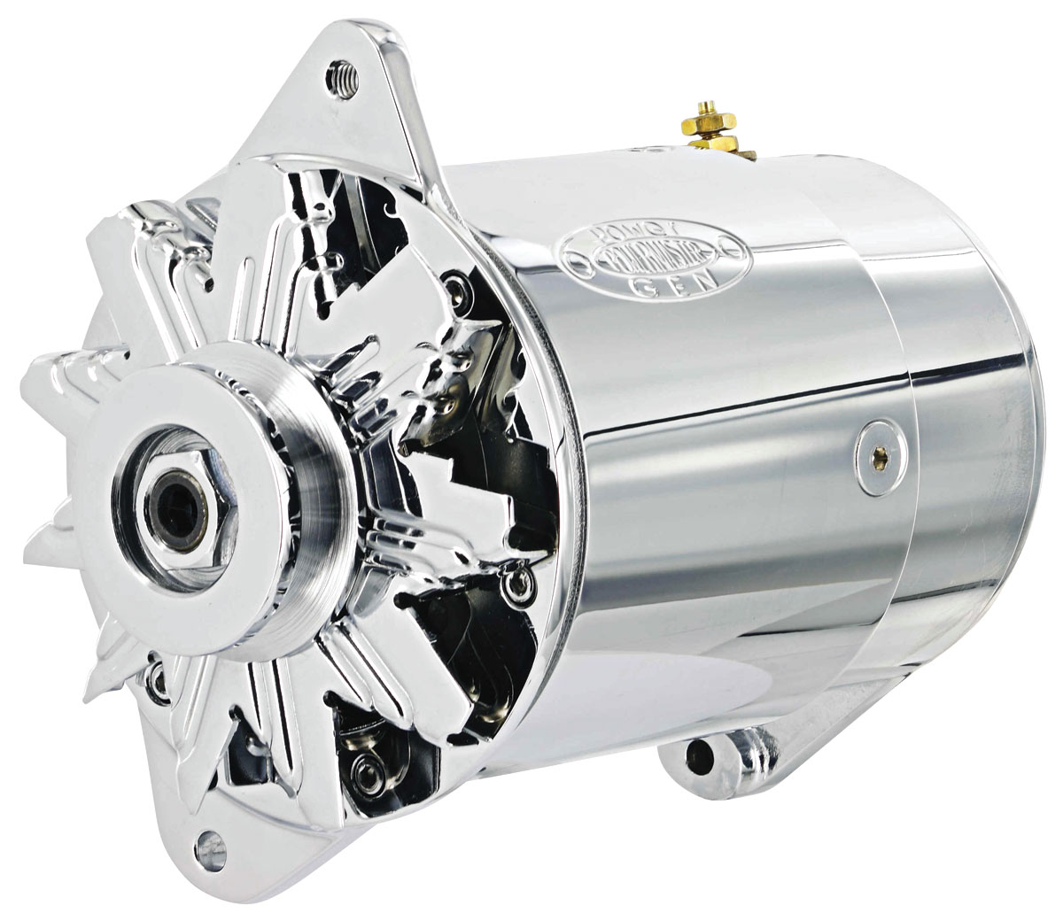 Alternator, PowerGen, 1954-62 GM Car, Chrome, Short Housing, Standard