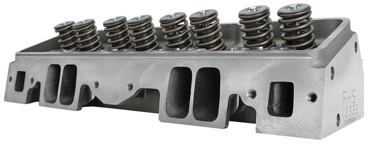 Cylinder Head, RHS, Pro Action, 235CC, SBC, Flat, 72CC Cham., Aluminum, St. Plug