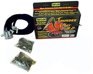 Spark Plug Wires, ThunderVolt 8.2mm, Taylor, Universal 8 Cyl., 180-Degree