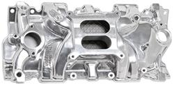 Intake Manifold, Weiand, Street Warrior, SB Chevy, Square Bore, Polished